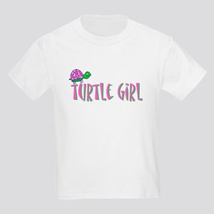 Turtle Girl Kids Light T-Shirt